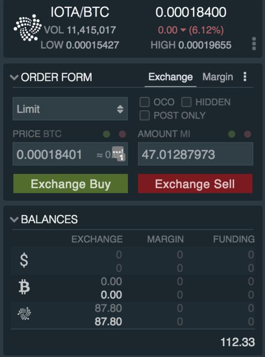how to buy IOTA on exchange
