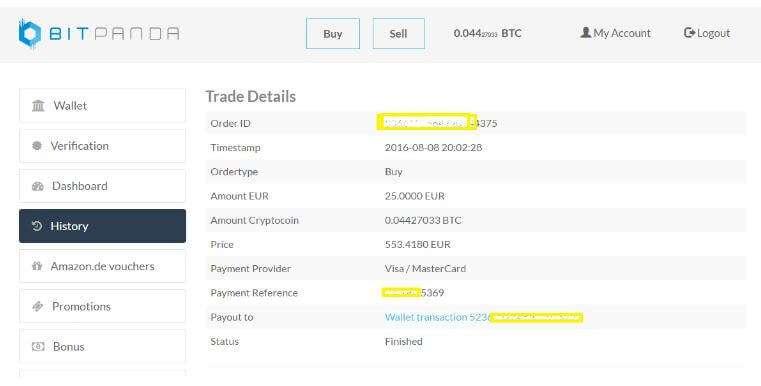 bitpanda transaction details