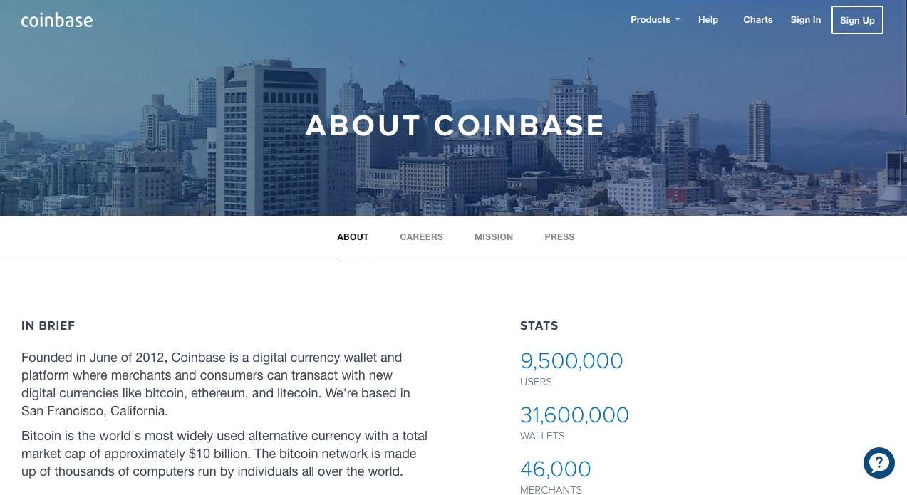 Coinbase Review main screen