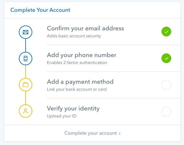 Coinbase review verification and privacy