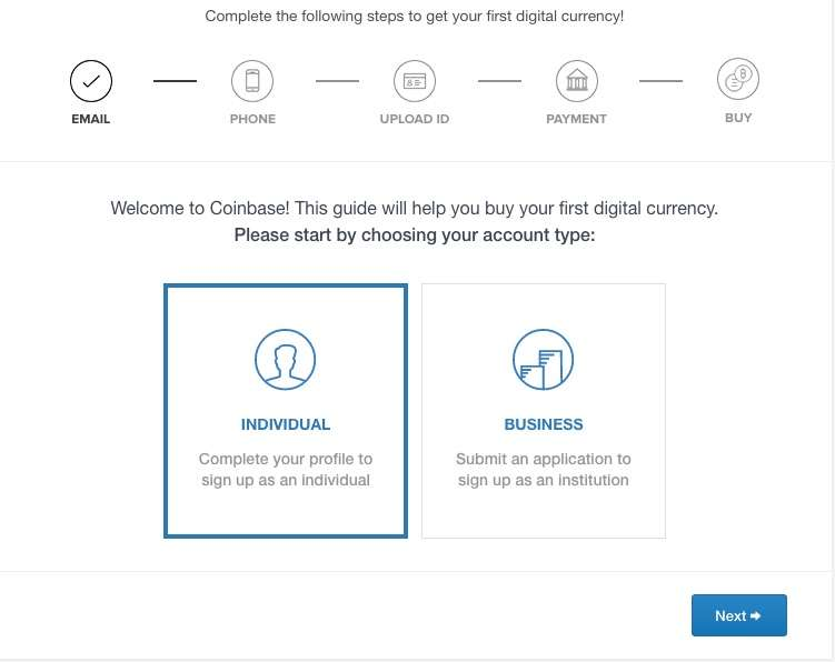 Coinbase review sign up