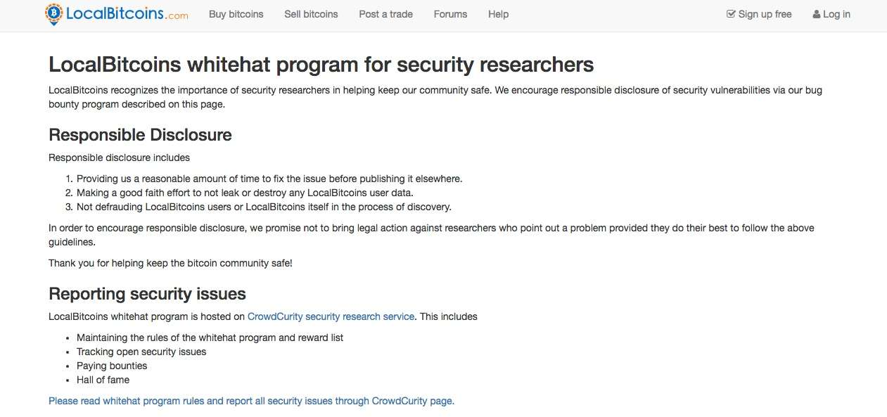 LocalBitcoins Review Security and privacy