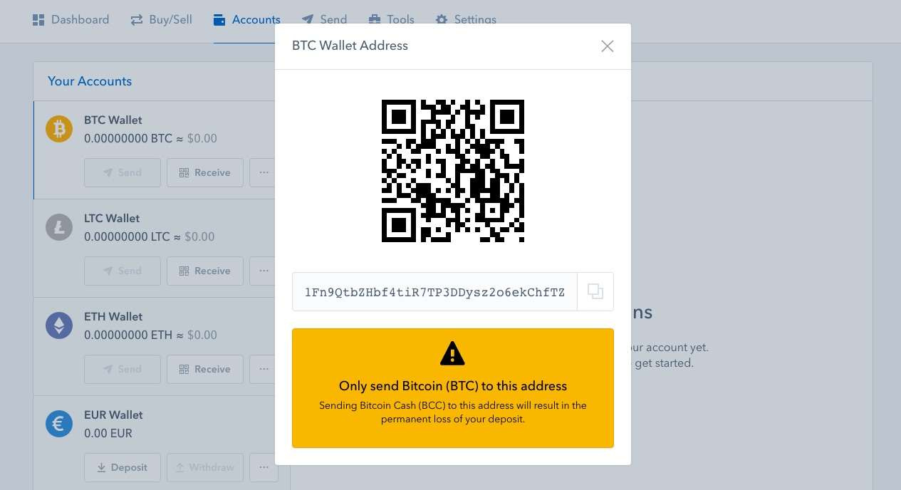 coinbase review wallet address