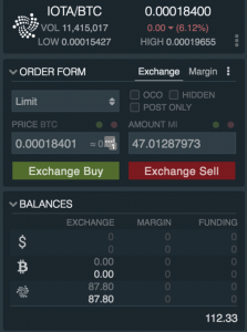 how to buy IOTA on exchange