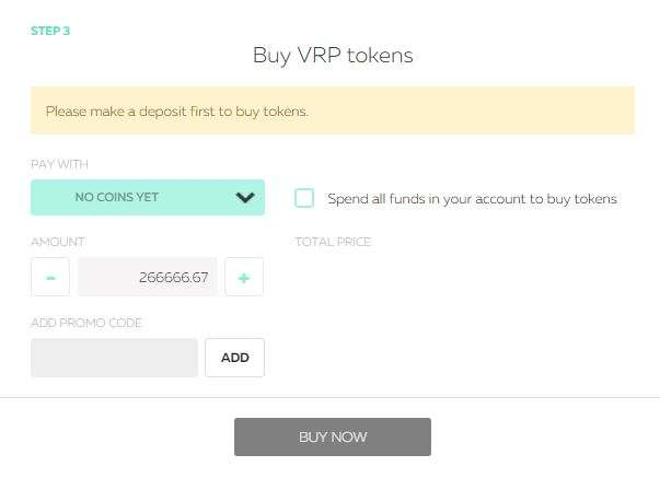 Buy VRP tokens