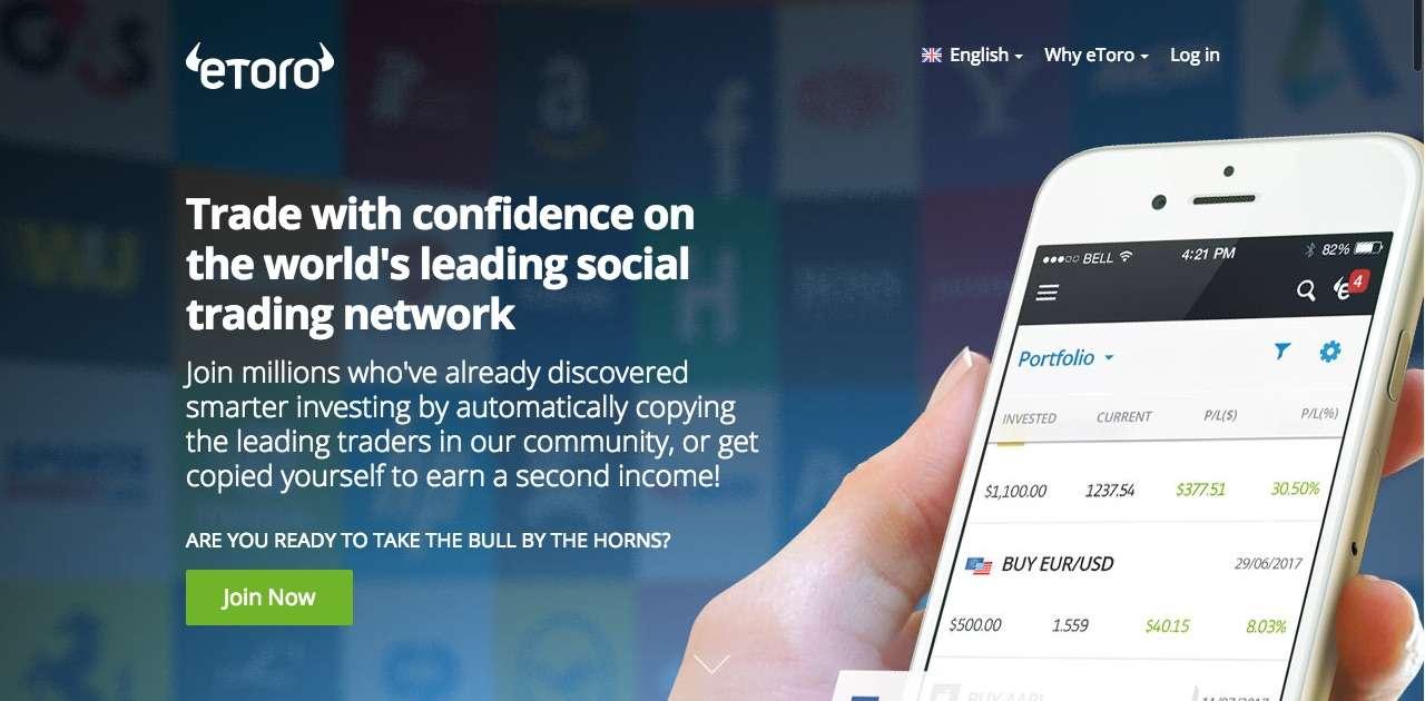 eToro cryptocurrency trading platform for beginners