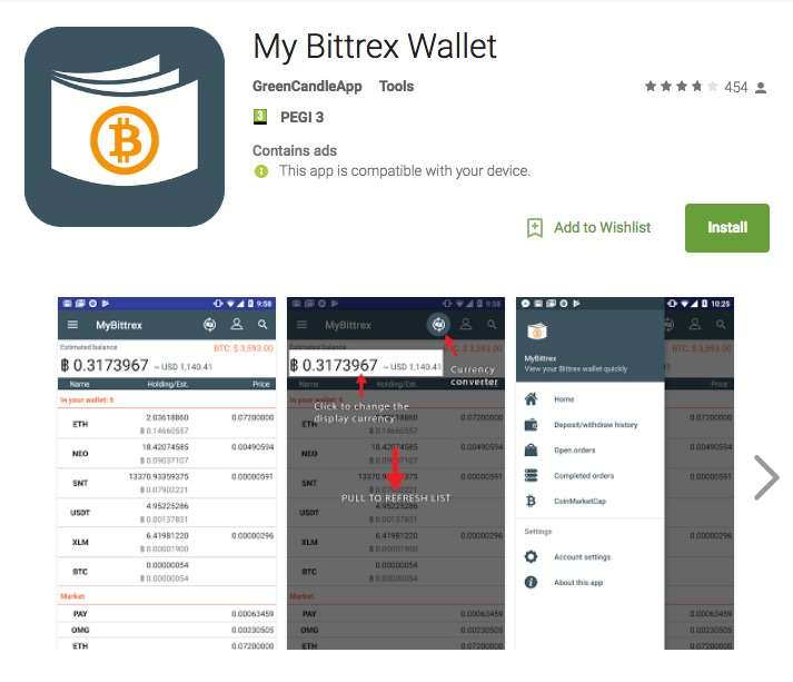 Bittrex- Mobile App