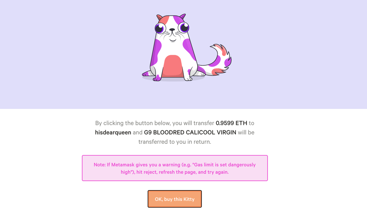 Play and buy CryptoKitties