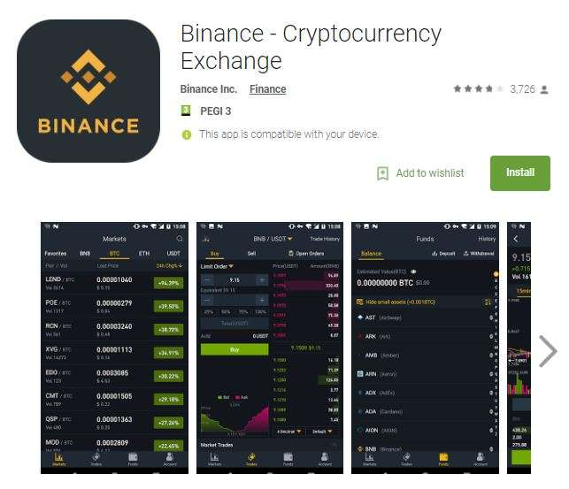 Binance mobile app