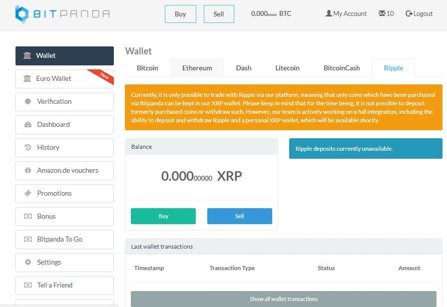 How To Buy Ripple With BitPanda