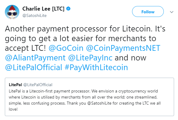 LitePay Litecoin launched