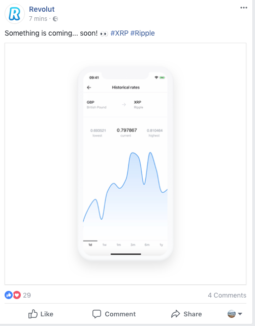 Revolut will add Ripple (XRP)