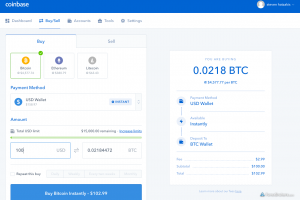 buying bitcoin via coinbase