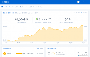 cryptocurrency exchange platform coinbase