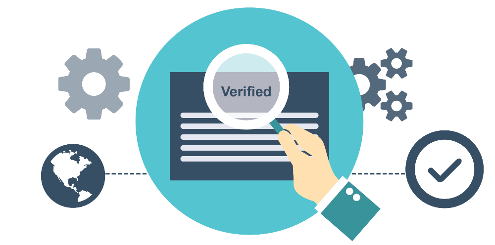 Blockchain-verified IDs