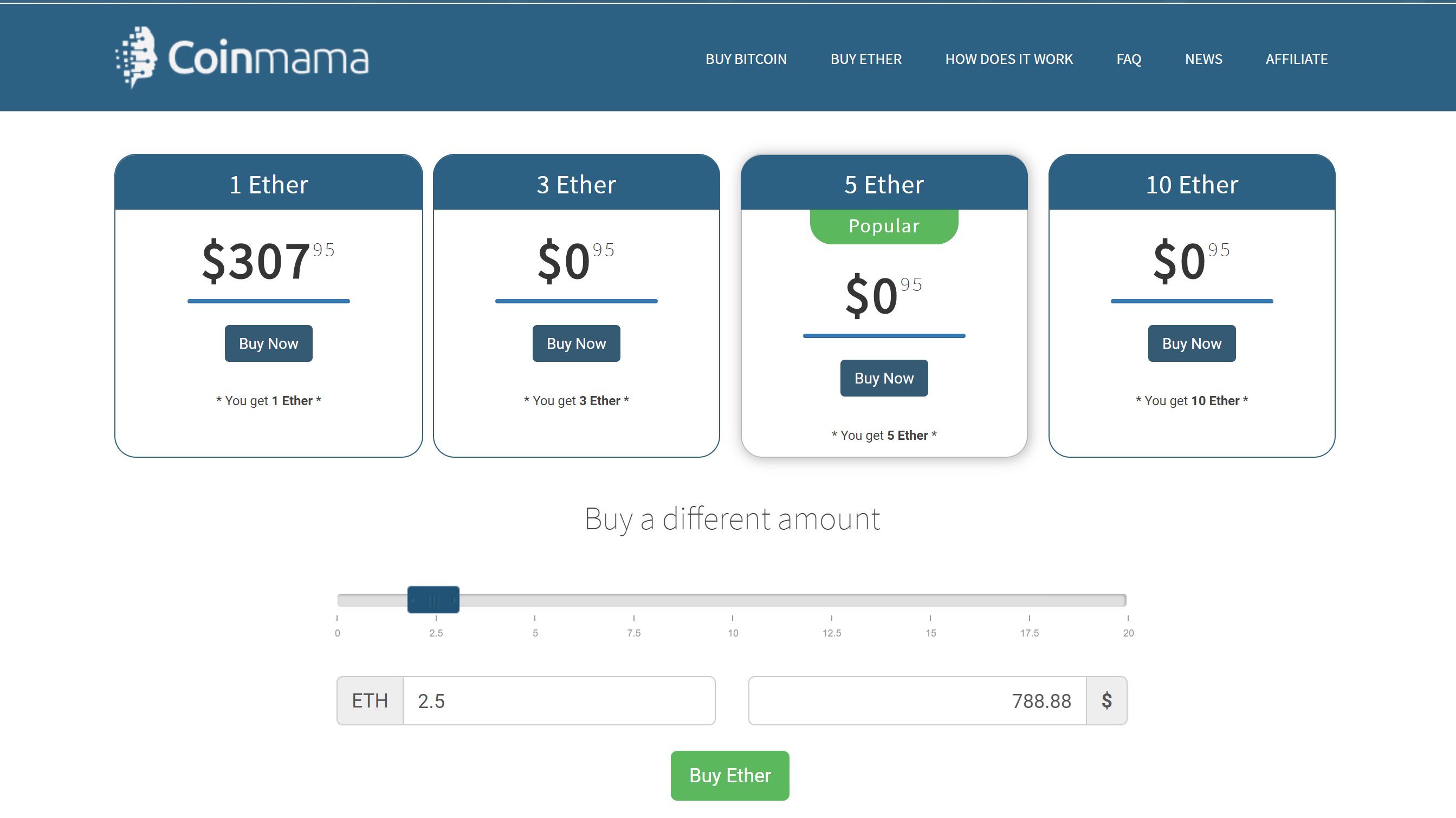 CoinMama review Interface
