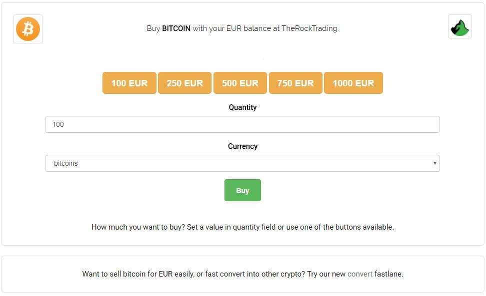 The Rock Trading Limited Fastlane Option