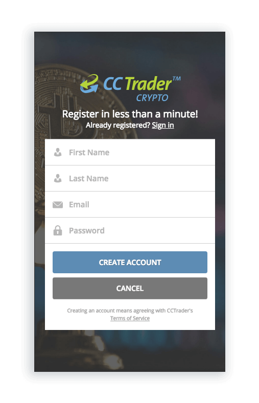 open a cryptocurrency trading account